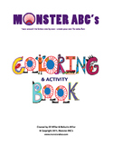 Monster ABC's Coloring Book Worksheet Sample