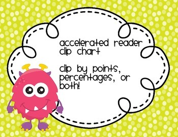 Monster Accelerated Reader Clip Chart