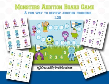 Monster Addition Board and card game