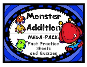 Addition Fact Practice Drills and Quizzes by Set with Cumu