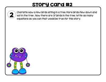 Monster Addition Practice and Task Cards