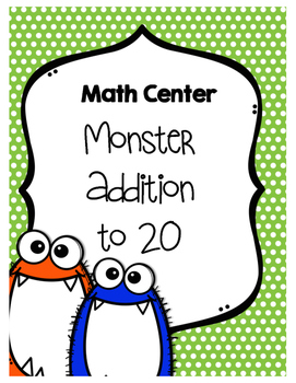 Monster Addition to 20 Activity Center