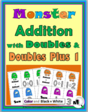 Doubles Addition & Doubles Plus One Monster Theme - Doubles Facts