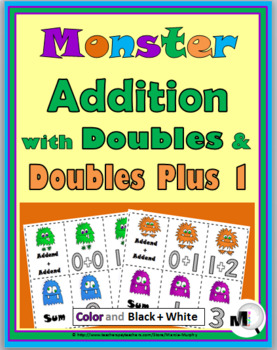 Doubles Addition & Doubles Plus One Monster Theme - Double