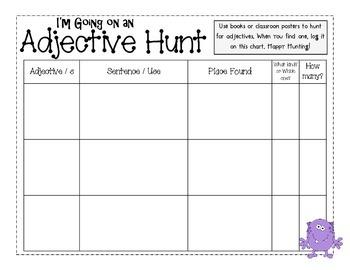 Monster Adjective Hunt