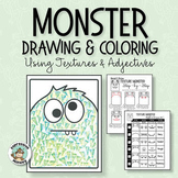 Monster Adjectives: Fun Drawing & Texture Art Lesson