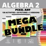 Monsters Algebra 2 BUNDLE: Math Pixel Art Activities