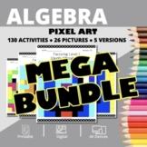 Monsters Algebra BUNDLE: Math Pixel Art Activities