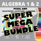 Monsters Algebra SUPER MEGA BUNDLE: Math Pixel Art Activities