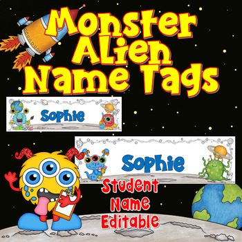 Monster Alien Name Tags Name Plates