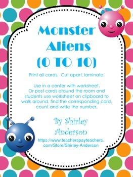 Monster Aliens- Ten Frames Freebie