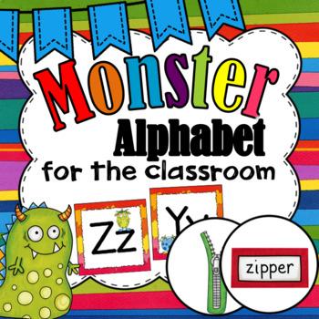 Alphabet Line ~ Monster Theme