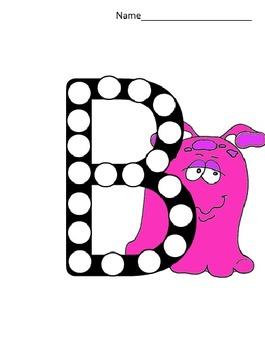 Monster Alphabet Dots Activity Sample
