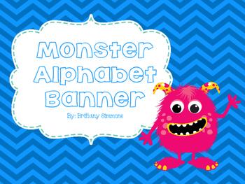 Monster Alphabet Banner