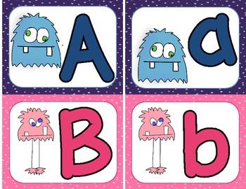 Monster Alphabet Cards