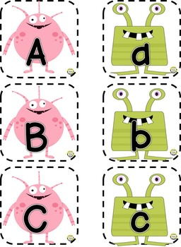 Alphabet Matching Cards ~ Monster Theme
