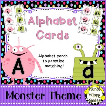 Alphabet Matching Cards ~ Monster Theme