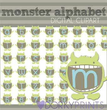 Monster Alphabet Clip Art