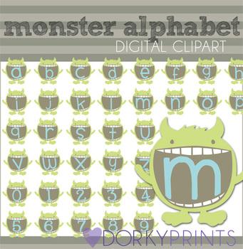 Monster Alphabet Clip Art