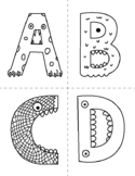 Monster Alphabet Flash Cards to Color