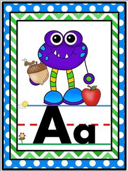 Monster Themed Alphabet Line {Classroom Decor}