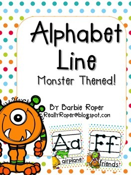 monster alphabet line by barbie roper teachers pay teachers