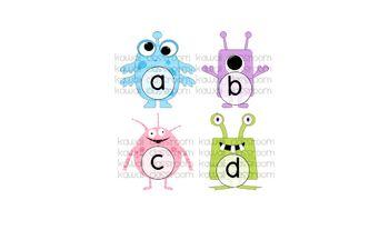 Monster Alphabet Pieces