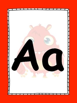 Monster Alphabet Posters