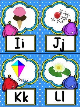 Monster Alphabet Posters & Word Wall Headers