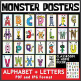Monster Alphabet and Letter Posters Bundle