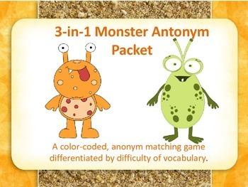 Antonym Monster Pack