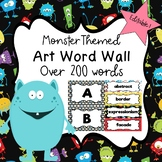 Art Word Wall (Monster Theme) - Editable!