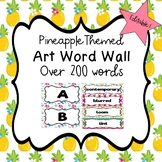 Art Word Wall (Pineapple) - Editable!