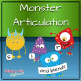 Monster Articulation Words for S L R and Blends