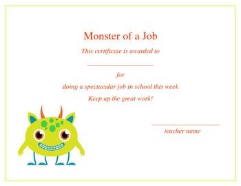 Monster Award Set
