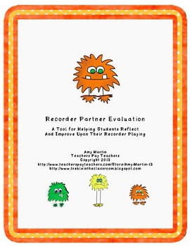 Monster BAG Recorder Stations and Worksheets
