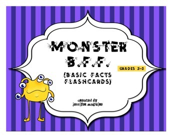 Monster B.F.F. (Basic Facts Flashcards) - Multiplication 0-9