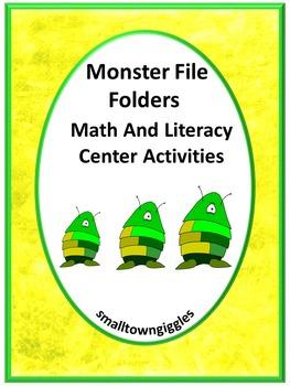 Monsters Math & Literacy File Folder Games, Special Education, Kindergarten