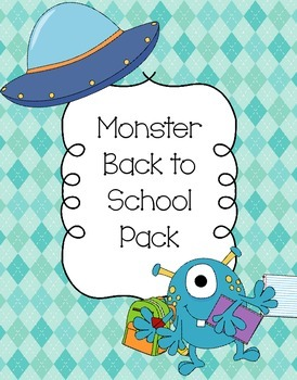 Monster Back to School Pack