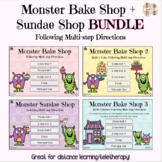 Monster Bake Shop BUNDLE: Following Multi-Step Directions