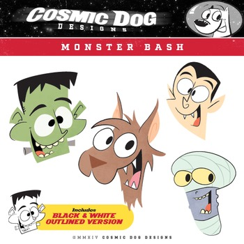 Monster Bash Halloween Clip Art Set