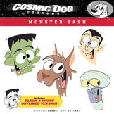 Monster Clip Art Set - Fun Halloween Characters