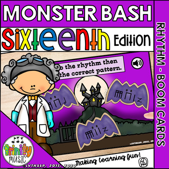 Monster Bash (Sixteenth Notes) Interactive Game