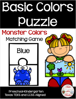 Monster Basic Colors Puzzle