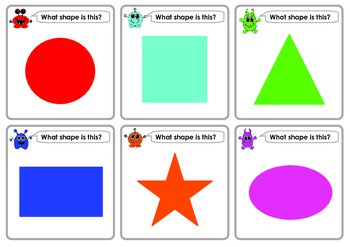 FREE Flash Cards: Monster Basic Concepts: Colours Shapes Numbers