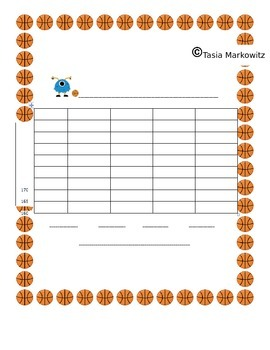 PRINTABLE Monster Basketball Addition with Four -  2 digit numbers