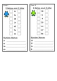 Monster Before and after math task cards. 1-104 range.