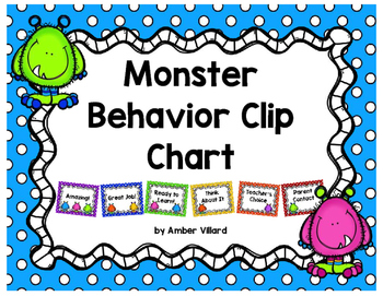 Behavior Clip Chart {Monster}