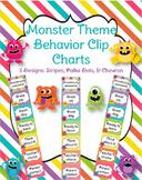 Monster Behavior Clip Charts (3 ***EDITABLE*** design options)