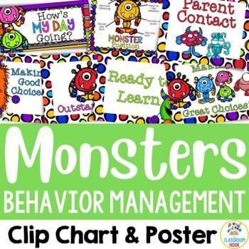 Monster Theme: Behavior Management Chart & Poster